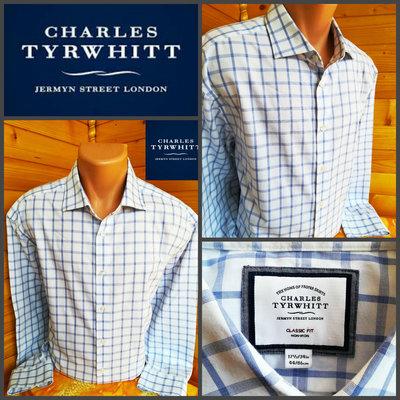 Рубашка в крупную клетку британского бренда одежды charles tyrwhitt, оригинал, р. XXL