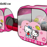 Палатка Hello Kitty 3в1 с тоннелем, 8015, 270х92х92см