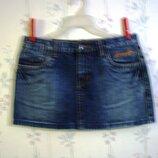 Юбка р.48-50 короткая, Пот- 43 ENEMY распродажа, джинсовая, женская девушка