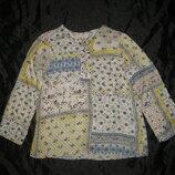 11-13 лет, тоненькая рубашка Zara туничка в народном стиле, шнуровка