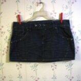 Юбка р.48-50 короткая, Пот- 45 IL DOLCE распродажа, джинсовая,