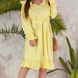 Женское платье рубашка ткань натуральный лен скл.1 арт.53923
