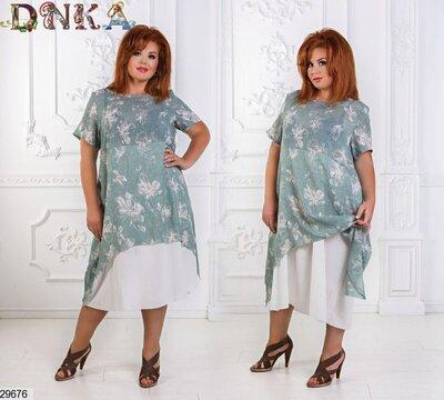 женское платье Р-Ры С 46 По 56 лен