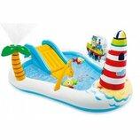 Водный Игровой Центр Веселая Рыбалка Intex 57162 218х188х99 см