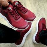 Мужские кроссовки nike бордовые красные