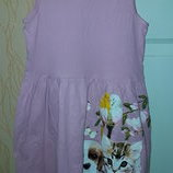 Хлопковое платье H&M 6-8 лет