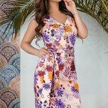 Женское летнее цветочное коттоновое платье скл.1 арт.53535