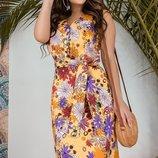 Женское летнее цветочное коттоновое платье скл.1 арт.53534