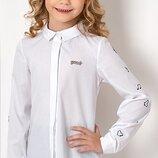 Блуза 100% хлопок на девочку Тм MEVIS 2723 Размеры 122- 146