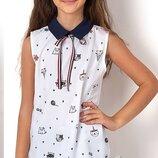 Нарядная блузка с котиками Mevis 2491 Размеры 122-146