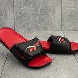 Шлепанцы мужские Reebok black/red