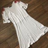 Белое Платье на запах, плаття на запах.