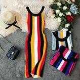 Платье миди 42 - 46 три расцветки