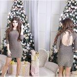 Платье люрекс с открытой спиной. Размеры с-м и м-л