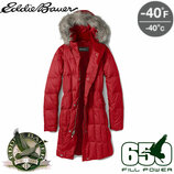 Легкое зимнее пуховое пальто пуховик парка Eddie Bauer Fill Power 650 -40