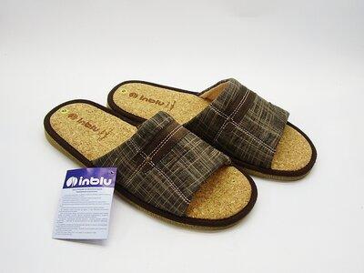 Мужские тапочки с открытым носком и пробковой стелькой Тм Inblu Инблу