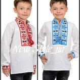 36-42 Вышиванка для мальчика, вишиванка хлопчику, сорочка подростковая, детская вышиванка