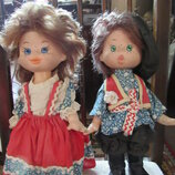 Кукла Ссср 35 см пара Иван да Марья. Фабрика сувенирных игрушек