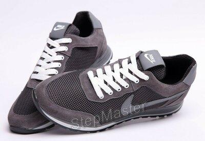 Кроссовки мужские летние Nike замша-сетка