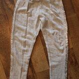 Спортивные штаны H&M с вставками из пайеток, рост 110 см, возраст 4-5 лет