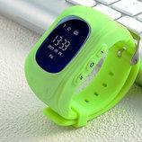 Детские умные часы Q50 зеленые с трекером