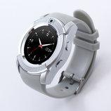 Смарт Часы Smart Watch Phone V8 серебристые. Шагометр.