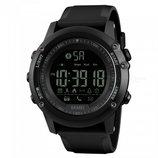 Спортивные умные часы Skmei Smart 1321 черные водостойкость 50 м