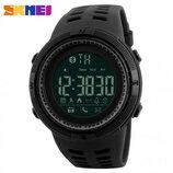 Спортивные смарт-часы Skmei Smart 1250 черные 50 m водонепроницаемый 5АТМ