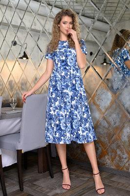 Женское летнее длинное платье ниже колен миди пышное женские летние длинные пышные нарядные платья