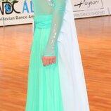 Платье для танцев стандарт рост 155-170см танцевальное платье