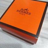 Коробочки подарочные для ремней с логотипом Hermes картонные