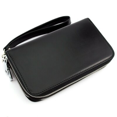 Клатч мужской кожаный CREZ-01 черный