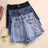 Юбка - шорты джинс три расцветки
