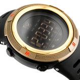 Спортивные смарт-часы Skmei Smart 1250 золотые 50 m водонепроницаемые 5АТМ