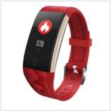 Смарт браслет T20 цветной дисплей- Красный Шагомер, уведомления о вызовах и смс, пульсометр, датчи