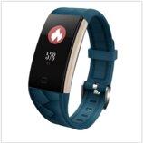 Смарт браслет T20 цветной дисплей- Синий Шагомер, уведомления о вызовах и смс, пульсометр, датчик