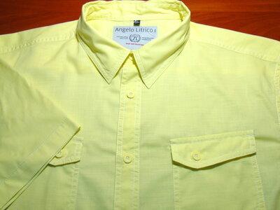 Angelo Litrico Шикарная летняя рубашка нежно жёлтого цвета - XL