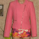 куртка укороченная розовая