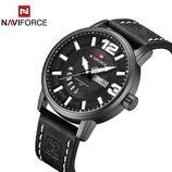 Классические мужские военные часы Naviforce 9143, Black / Чоловічий годинник