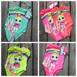 Lol детские сдельные купальники лол 4 цвета -размеры