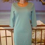 Платье бирюзовое из трикотажа , размер 8-10 Primark