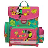 Рюкзак для первокласника с гавайским принтом ,пенал и сумка для обуви