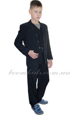 Школьный костюм тройка для мальчика черный