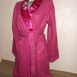 S-м-l/44-46-48 роскошный флисовый халат цвета марсала новый