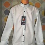 Белая рубашка для мальчика 7-12 лет