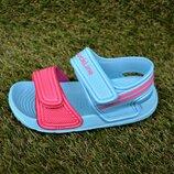 Детские пляжные босоножки сандалии Nike пена голубой розовый р24-29