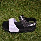 Детские пляжные босоножки сандалии Adidas пена черный белый р24-29