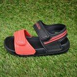 Детские пляжные босоножки сандалии пена черный оранжевый р24-29