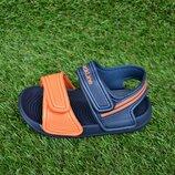 Детские пляжные босоножки сандалии пена синий оранжевый р24-29