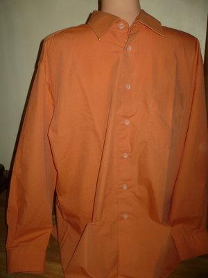 Рубашка мужская абрикосовая ворот 43-44 XL Best Choice